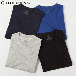 Solid Pack Australia - Giordano Men Shirts Classic Solid Undershirt Short Sleeve T-shirts (in Crewneck Tops Uomo Camisetas (4 Pack) Y19042005