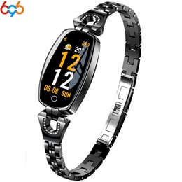 H8 Smart Watch Australia - 696 H8 HR Smart watch Women Lady Ladies Smart Watch Girl Bracelet Wristband Female Jewel Watches Clock Fashion Wear for xiaomi