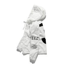 yeezus tour jacket 2019 - Casual Jacket Men Kanye Hip Hop Windbreaker Tour 3 Jackets Men Women Streetwear Fashion Outerwear Uniform Coat Black Whi