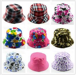 $enCountryForm.capitalKeyWord Australia - Kids Bucket Hats Caps Sun Protection Baby Beanie Caps Outdoor Child Sunproof Hat Anti UV Basin Canvas Topee Floral Sun Hat Visor B71602