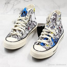 $enCountryForm.capitalKeyWord Australia - One Piece X Conver Original Designer Art Graffiti Men Women New Release High Skateboard Shoes Canvas