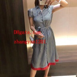 $enCountryForm.capitalKeyWord Australia - summer dresses Sexy Women Dresses Print Collar Lapel chiffon dress Lady brand women Clothes Casual ladies jupe jumpsuits skirt 901531