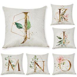 $enCountryForm.capitalKeyWord Australia - New arrival Coreless Pillowcase Letter Pillow Cover 45x45cm Room English Alphabet For Home goods 1PC Flower Pillowcase Pillow Case