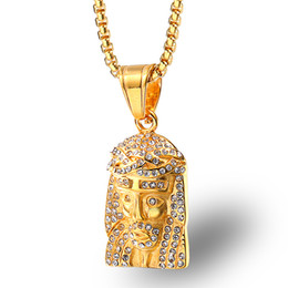 $enCountryForm.capitalKeyWord Australia - Hip Hop jesus piece necklace For Mens iced out Bling Jesus head Pendant Gold chains Fashion Religion Faith Jewelry Gift