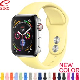 Wholesale button strap resale online – Strap For Apple Watch band mm mm iWatch band mm mm Sport Silicone belt Bracelet correa Apple watch Accessories