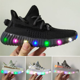 Cheap Light Running Shoes NZ - Cheap Baby Kids Kanye West lighting Children Athletic Shoes Boys Running Shoes Girls Casual Shoes Baby Training Sneakers