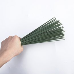 Flower rods online shopping - 100 Artificial Potted Decoration Flower Rod Plant Gardening Stem Plastic Wire