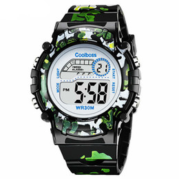 kids digital sports watch Australia - Camouflage Watches Children Watch Led Digital Wristwatch Kids Boys Girs Students Clock Waterproof Sport Gift Relojes Army Green