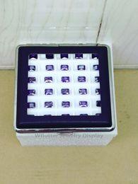 $enCountryForm.capitalKeyWord Australia - Newest Leatherette Gem Display Case 30 Grids Diamond Box Stone Bag With Black White Silica Gel Pad Gemstone Pendant Holder 2pcs