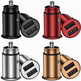 smart car charger NZ - Quick charger 3.1A Dual Usb Port Alloy Car Charger Auto Power Adapter For smart phone Samsung android phone gps pc