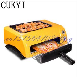 mini pizza NZ - 15L Mini Baking Oven Electric Oven for Baking pizza machine 1300W Orange Time-control Two layers baker Pastry Snack Cookie Roaster Pizza