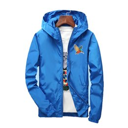 flower jackets 2019 - Plus Size S-7XL for 130KG Loose Bomber Jackets Mens Clothing Thin Jacket Men Windbreaker Solid Color Embroidery Animals