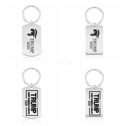 1181de528b Wholesale keychains rings online shopping - Trump Keychain Tag Keep America  Great Pendant Keychain Key Ring