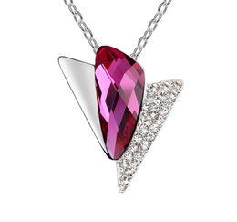 $enCountryForm.capitalKeyWord Australia - Made in China fashion jewelry Woman Originality Ornaments Swarovski Elemental Crystal Necklace Time city High-end Pendant wholesale