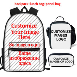 Backpack pictures online shopping - Jackherelook Customized Picture or Logo Set School Bags For Girls Boys Primary Child Women Backpack Plecak Mochila Escolar