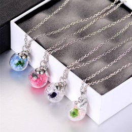 gemini chain Australia - Crystal Gemini heart drift wishing bottle ball pendants Necklaces for women fashion glass necklace DIY jewelry Christmas gift 161548