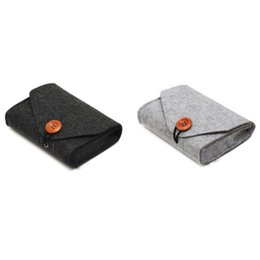 $enCountryForm.capitalKeyWord NZ - Portable Felt File Data Cable Storage Bag Power Bank Storage Bag Durable Office Home Supplies