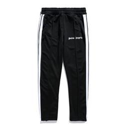 Venta al por mayor de Envío gratis Palm Angels Pantalones de chándal de alta calidad Hip Hop Retro pantalones deportivos rectos estilo Punk Palm Angels pantalones de chándal