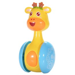 Chinese  Cartoon Giraffe Tumbler Doll Roly Poly Baby Toys Cute Rattles Ring Bell Newborns 3 to 12 Month Early Educational Toy manufacturers