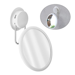 hotel mirrors 2019 - Makeup Mirror For Bathroom Hotel Home 1PC Stainless Steel Plastic Suction Cup Durable Punch-Free cheap hotel mirrors