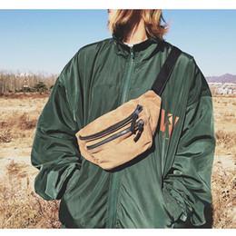 $enCountryForm.capitalKeyWord Australia - Canvas Waist Bag Unisex Zipper Chest Bag Street Sport Casuale Fanny Pack Girl Boy Waist Belt Bags Fashion Phone Pack B90