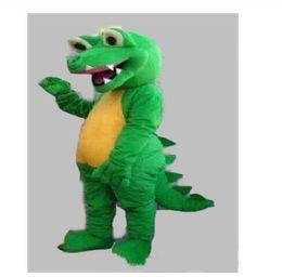 Wholesale adult size dragon costume online – ideas 2019 High quality hot GREEN DINOSAUR DRAGON MASCOT COSTUME ADULT SIZE CARTOON