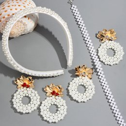 Discount hair accessories for elegant parties - JUST FEEL Fashion Pearl Headbands for Women Girls Elegant 2019 Handmade White Wide Hairbands Hair Accessories Party