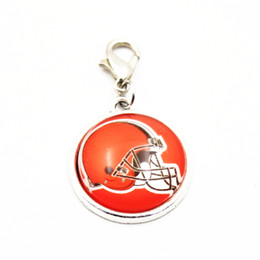 $enCountryForm.capitalKeyWord NZ - Wholesale 20pcs lot designs Football Logo dangle charms sports lobster clasp charms for bracele pendant hanging charms jewelry accessory