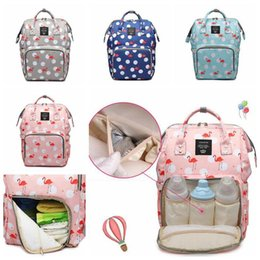 BaBy changing Backpacks online shopping - 4 Colors LEQUEEN Mummy Backpack Multifunctional Baby Flamingo Diaper Backpack Mommy Changing Bags Outdoor Bags Diaper Bags CCA11055