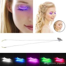 $enCountryForm.capitalKeyWord NZ - Mini voice control LED eyelash lamp false eyelash lamp flash led double eyelid stickers Christmas theme gift   50pc