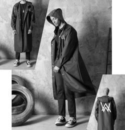 $enCountryForm.capitalKeyWord Australia - Stylish EVA Black Adult Raincoat Alan Walker Pattern Outdoor Men's Long Style Hiking Poncho Environmental rain coat
