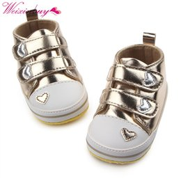 $enCountryForm.capitalKeyWord Australia - Spring Shoes Newborn Baby Girls Classic Heart-shaped PU Leather Tennis Lace-Up Autumn First Walkers 13
