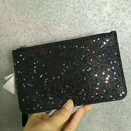 Wholesale brand designer clutch bags Christmas stars wallets wristlets shining glitter sparkle coin purses for women colors