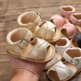 Wholesale 2019 Summer Dressed Infant Boys Toddler Shoes Baby Shoes Kid Baby First Walkers lovely month Learning Walking Outdoor