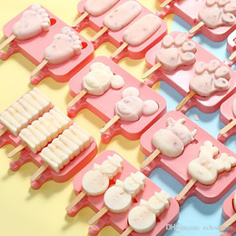 silicone dogs Canada - Silicone Ice Cream Mold Makers Red Silica Gel Mould Baby Dog Small Feet Homemade Popsicle Sticks Tools Snowman Torch Shape