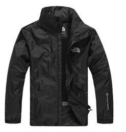 Großhandel 2019 Wholesale New Hot Outdoor Jacken Andes die Männer Norden wasserdichte einschichtige Overall Mantel Windbreaker Gesicht Jacke Freies Verschiffen