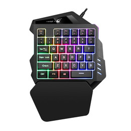 China K13 One Handed Gaming Keyboard Mechanical Mini Game key Pad Switch Gaming Keyboards for Tablet Desktop Russian sticker cheap mini one tablet suppliers