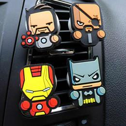 Hot Perfume Car Australia - Hot Sale Cartoon Air Freshener The Avengers Superman Ironman Stark Car Styling Perfume Marvel Style for Car Air Condition Vent