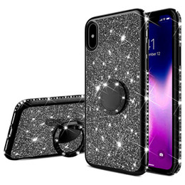 bling note Australia - Magnetic Glitter Bling Diamond Ring Stand Soft TPU Case for XiaoMi 6X 6 8 9 SE CC9 Play Max 3 RedMi Note 4 4X 5 6 7 8 Pro A2 Lite 7A K20