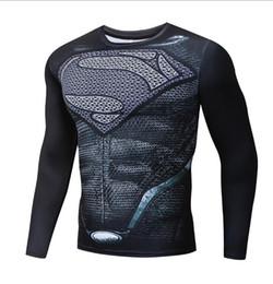 $enCountryForm.capitalKeyWord Australia - Fitness Quick-drying Tops Sports Man Super Superman Turtleneck T-Shirt Long Sleeve