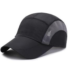 Outdoor Cap Wholesale UK - Unisex Baseball Caps for Men Quick Dry Breathable Mesh Cap Female Sun Hat Outdoor Sports Visor Running Fishing Golf Summer Visor