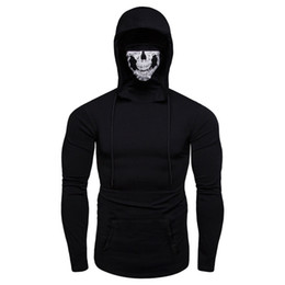 $enCountryForm.capitalKeyWord UK - New Hot hoodies men Mask Skull Pure Color Pullover Long Sleeve Hooded Sweatshirt Tops Blouse sweatshirts men Free Shipping