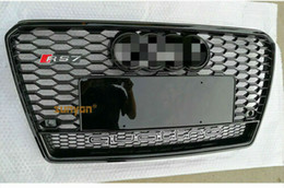 $enCountryForm.capitalKeyWord NZ - For Audi A7 S7 Grille RS7 Style W  Quattro Black Ring 2011-2014 Front Mesh Grill