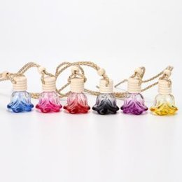 $enCountryForm.capitalKeyWord Australia - 6styles rose perfume bottle glass New car hanging pendant car home decoration Perfume bottle Storage DIY mini packing Bottles 6ML FFA1473