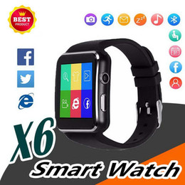 $enCountryForm.capitalKeyWord Australia - Bluetooth Smart Watch X6 Sport Passometer Smartwatch with Camera Support SIM Card Whatsapp Facebook for Android Phone
