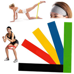 Elastic ropE ExErcisEs online shopping - Free DHL Elastic Yoga Rubber Resistance Bands Gum for Fitness Equipment Exercise Band Workout Pull Rope Stretch Training Pilates M458A