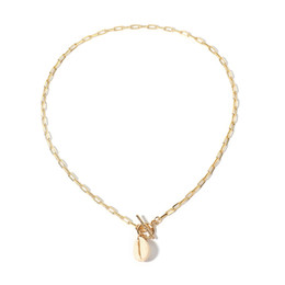 $enCountryForm.capitalKeyWord Australia - Natural Shell Pendant Neckalces Bohemian Clavicle Necklace Simple Chain Alloy Gold Choker For Women Fashion Jewelry Silver Plated Free