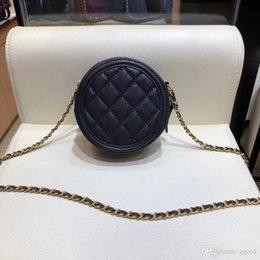 $enCountryForm.capitalKeyWord NZ - Hot 2018 newest caviar leather camera bag luxury design women genuine leather chain crossbody shoulder bag lady fashion mini circular bag