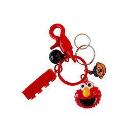 $enCountryForm.capitalKeyWord Australia - Wh Girls Sesame Street Plush Key Chain Student Creative Elmo Cartoon Bell Bag Phone Charm Keys Buckle Trinkets Accessories Gadgets Keychain