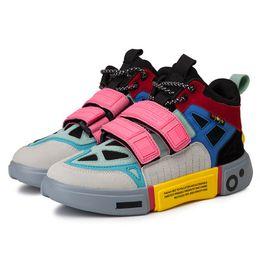 Chunky Sneakers Australia - Hip Hop Fashion Autumn Chunky Sneakers Men Breathable Mesh Casual Shoes Kanye Hook Loop EVA Tenis Masculino Adulto Sneakers